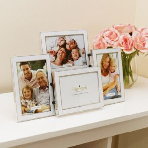 White Edged Collage Photo Frame 4 6x4