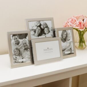 Silver Edged Collage Photo Frame 4 6x4