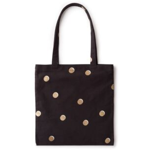 Scatter Dot Canvas Book Tote