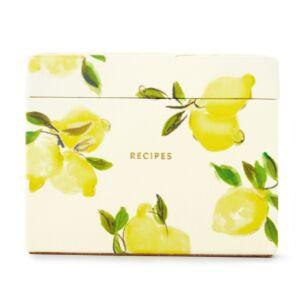 Lemon Recipe Box