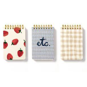 Spiral Notepad Set Strawberries