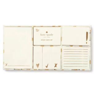 Kate Spade New York Gold Flamingo Dot Sticky Note Set