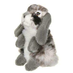 Grey Sitting Lop Eared Rabbit