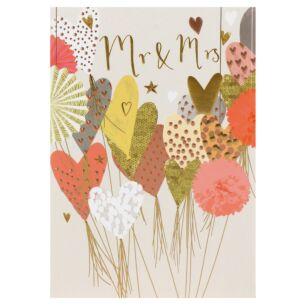 Louise Tiler 'Mr & Mrs' Hearts Greeting Card