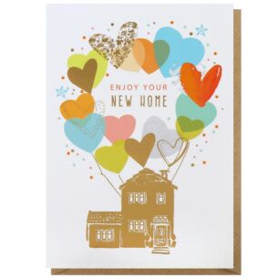 Louise Tiler 'New Home' Balloons Greeting Card