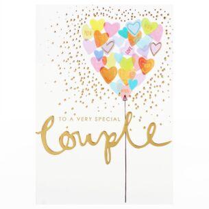 Louise Tiler 'Special Couple' Balloon Heart Card