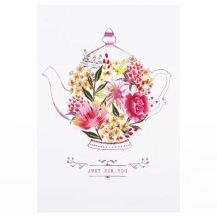 Louise Tiler 'Just For You' Teapot Card