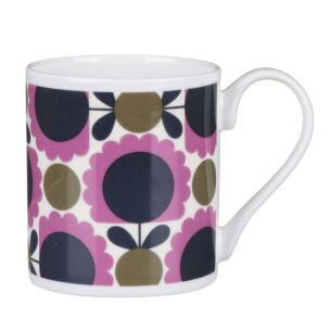 Orla Kiely Purple and Olive Scallop Flower Spot Small Mug