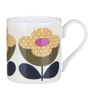Orla Kiely Olive and Yellow Buttercup Stem Small Mug