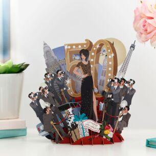 """""""Fantastic Fifty"""" Female 3D Birthday Card"""