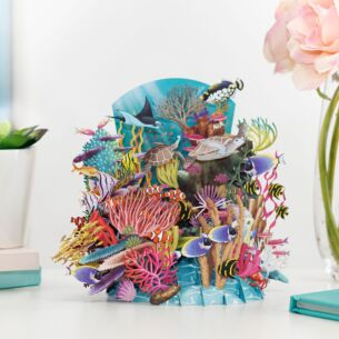 'Reef Life' 3D Card