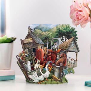 'The Farmyard' 3D Card