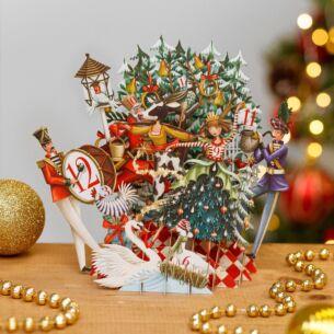The Twelve Days of Christmas 3D Christmas Card