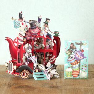 """Alice's Teapot"" 3D Card"