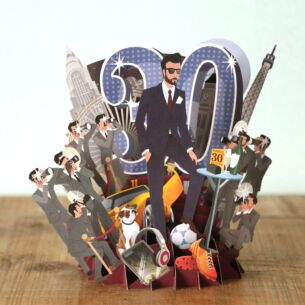 """""""30 Today"""" Male 3D Birthday Card"""