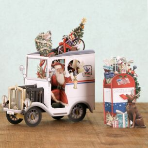 USA Postie 3D Christmas Card