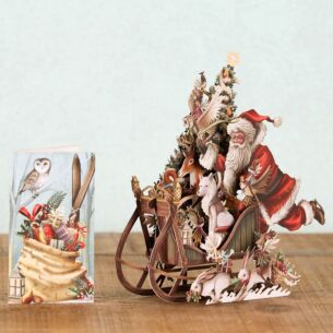 Woodland Sleigh 3D Christmas Card