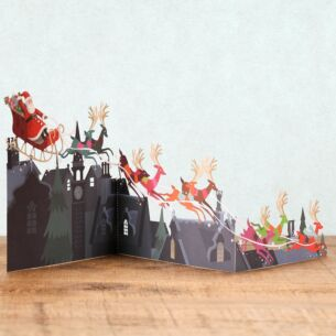 Roof Tops Zig Zag 3D Christmas Card