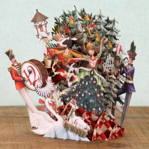 The Twelve Days of Christmas 3D Christmas Card