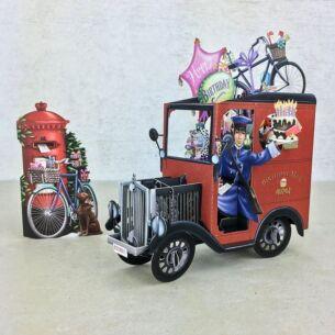 """UK Post Van"" 3D Birthday Card"