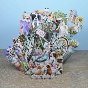 """Puppies"" 3D Birthday Card"