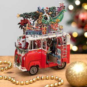 'Christmas Camper' 3D Christmas Card