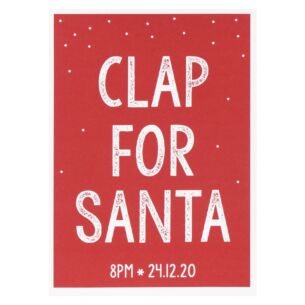 Clap For Santa Lockdown Christmas Card