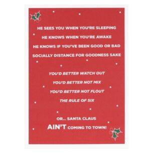 Santa Claus Ain't Coming To Town Lockdown Christmas Card