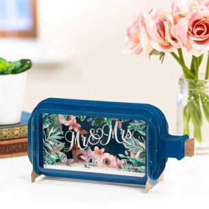 Mr and Mrs Message In A Bottle Card