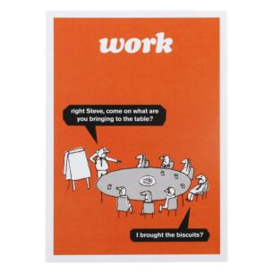 'Work Biscuits' Greeting Card
