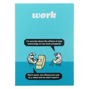 'Work Robot' Greeting Card
