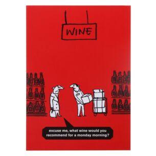 'Monday Wine' Greeting Card