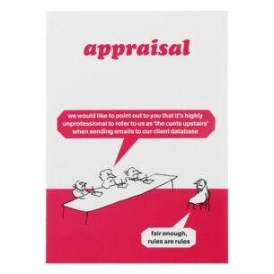 Modern Toss 'Appraisal' Greeting Card