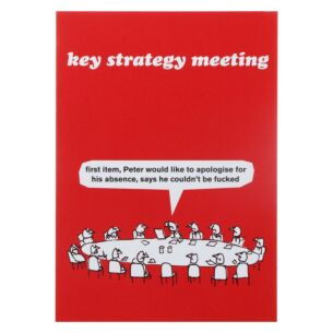 'Key Strategy Meeting' Greeting Card