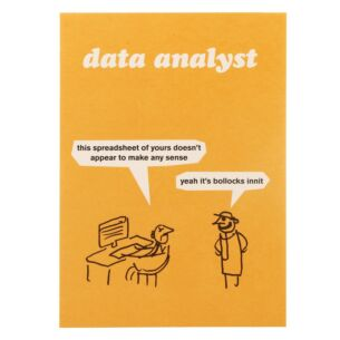 'Data Analyst' Greeting Card