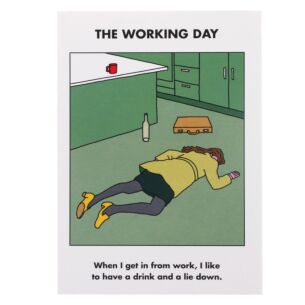 'Working Day' Greeting Card