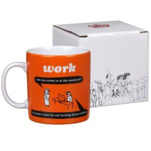 'Work At The Weekend' Boxed Mug