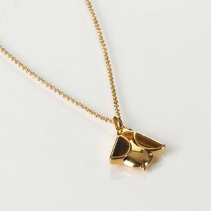 Tigers Eye Gold Plated Bee Pendant