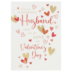 Assorted Hearts Valentine's Day Card