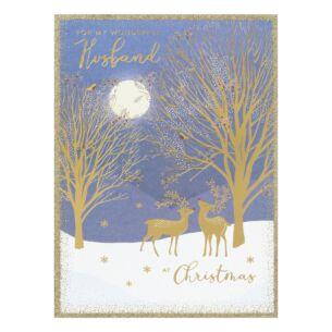 'Wonderful Husband' Moonlight Christmas Card