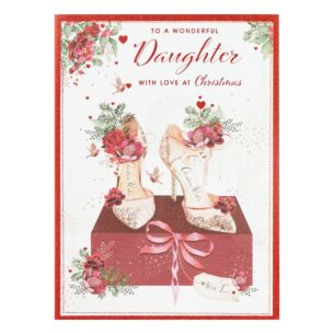 'Wonderful Daughter' Shoes Christmas Card