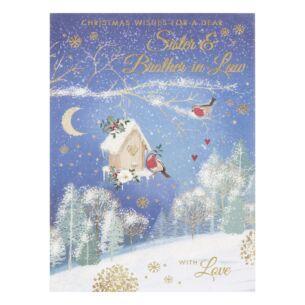 'Sister & Brother-In-Law' Birdbox Christmas Card