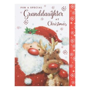 'Special Granddaughter' Santa Christmas Card