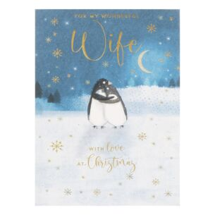'Wife' Penguins Christmas Card