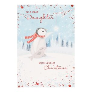 'Dear Daughter' Penguin Christmas Card