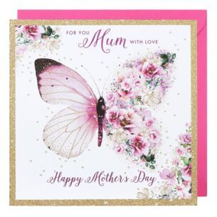 Butterfly Flowers Mother's Day Card