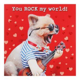 Dog & Guitar Valentine's Day Card