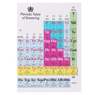 'Periodic Table of Swearing' A5 Lined Notebook