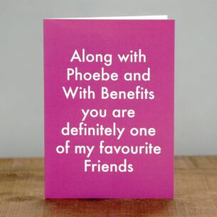 'My Favourite Friends' Greetings Card