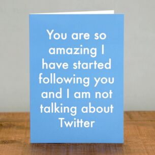 'I Am Following You' Greetings Card